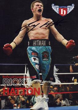 RICKY HATTON (World Welterweight Champion) signed boxing promo card