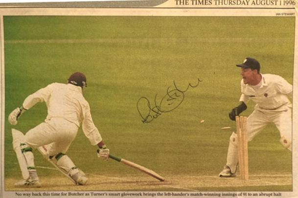 Rob-Turner-autograph-signed-Somerset-cricket-memorabilia-wicket-keeper-batsman-Cambridge-University-Weston-super-Mare-Cricket-Club
