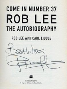 Robert Lee signed autobiography cover