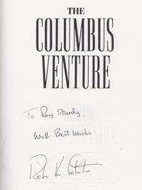 Robin-Knox-Johnston-autograph-signed-the-Columbus-Venture-book-BBC-TV-series-1991-sailing-memorabilia-round-the-world-yacht-racing-first-edition