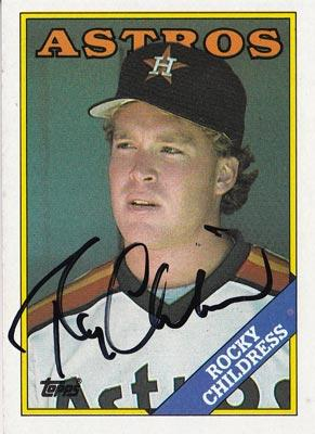 Rocky-Childress-autograph-signed-houston-astros-baseball-memorabilia-pitcher-topps-trading-card-1988