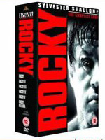 rocky movie box set sylvester stallone boxing film dvds