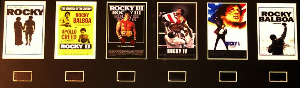 Rocky Balboa / Sylvester Stallone film cells and movie posters