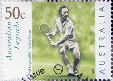 Rod-Laver-signed-tennis-First-Day-Cover-Australian-Legends-50 cent stamp