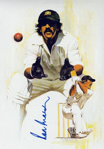 ROD MARSH hand-signed Australian cricket book print