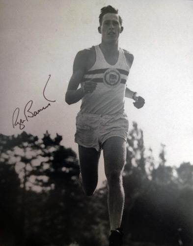 Roger-Bannister-autograph-signed-Athletics-memorabilia-sub-four-minute-mile-record-Sir-Iffley-Road-1951