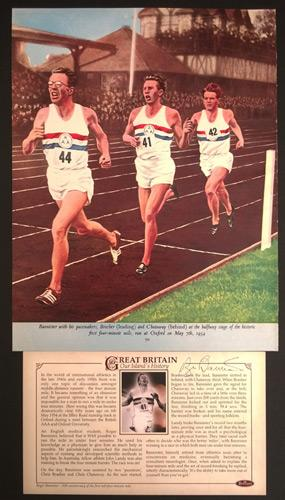 Roger-Bannister-autograph-signed-Athletics-memorabilia-sub-four-minute-mile-record-Sir-Iffley-Road-1954-Benhams-FDC-Brasher-Chris-Chataway