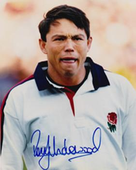 RORY UNDERWOOD memorabilia (Leicester & England) hand-signed photo.