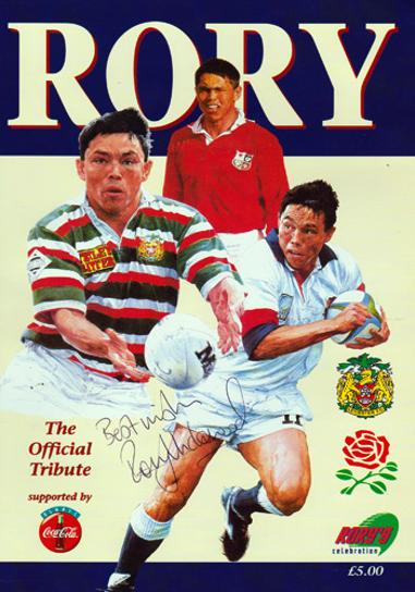 RORY UNDERWOOD memorabilia (Leicester, England & British Lions) Hand-signed