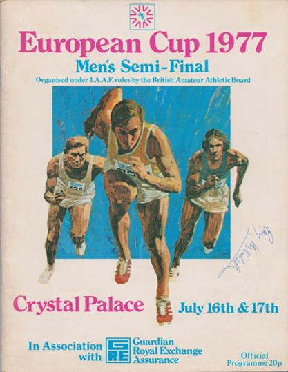 Roy-Mitchell-autograph-signed-Great-Britain-athletics-memorabilia-European-Cup-1977-semi-finals-programme-long-jump-signature-1976-Commonwealth-Games-gold-champion