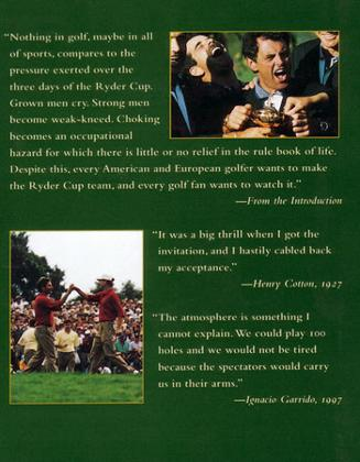 Ryder Cup Definitive History of Playing Golf for Pride and Country signed Colin M Jarman golfing book