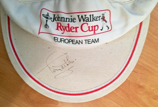 Ryder-Cup-golf-memorabilia-european-team-johnnie-walker-visor-europe-signed-tony-jacklin-autograph-usa-belfry-1985