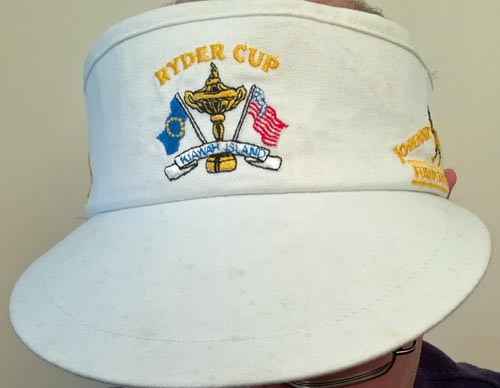 Ryder-Cup-golf-memorabilia-kiawah-island-european-team-johnnie-walker-visor-cap-europe-usa-1991-war-on-the-shore
