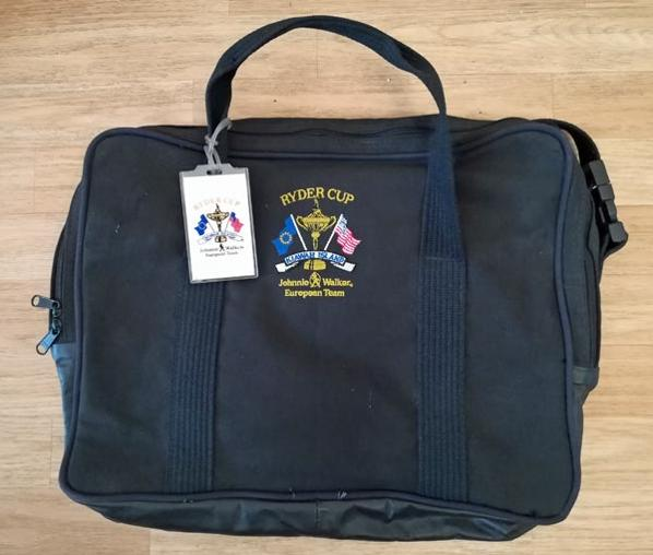 Ryder-Cup-golf-memorabilia-kiawah-island-holdall-satchel-shoulder-bag-luggage-tag-canvas-made-in-usa-v-europe-1991-war-on-the-shore