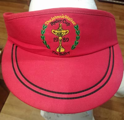 Ryder-cup-memorabilia-1989-the-belfry-official-visor-europe-v-usa-cap-fashion-samuel-trophy-logo-tie