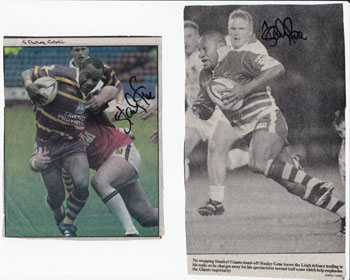 STANLEY GENE memorabilia signed Rugby League newspaper pictures Hull KR Papua New Guinea PNG rugby memorabilia