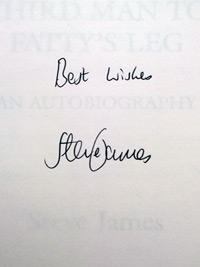 STEVE-JAMES-memorabilia-signed-autobiography-Third-Man-to-Fattys-Leg-Glamorgan-cricket-memorabilia-autographed-signature-200