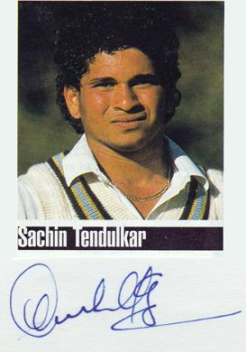 Sachin-Tendulkar-signed-Indian cricket photo-card