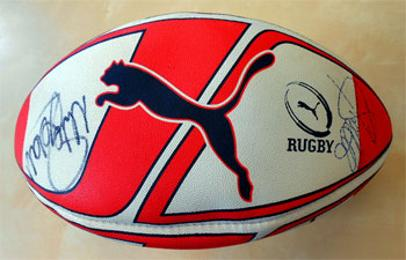 Sale Sharks memorabilia 2005-06 Premiership Champions signed rugby ball
