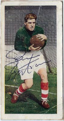 Sam-Bartram-signed-Charlton-Athletic-football-memorabilia-1950s-player-card-autograph-Addicks