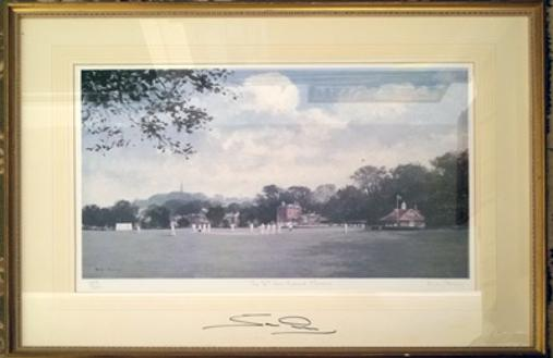 Sam-Northeast-autograph-signed-Kent-cricket-memorabilia-KCCC-Spitfires-captain-Harrow-school-artist-roy-perry-sixth-form-ground-limited-edition-print-framed