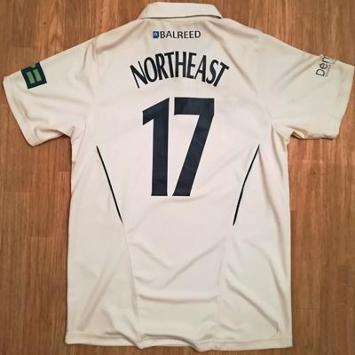 Sam-Northeast-autograph-signed-kent-cricket-memorabilia-match-worn-playing-shirt--number-17-captain-kccc-darren-stevens-geraint-jones-rob-key-jimmy-adams