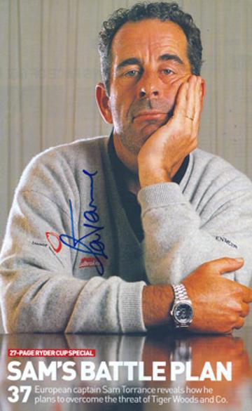 Sam-Torrance-autograph-signed-2002-ryder-cup-golf-memorabilia-scottish-golfer-golfing-signature-captain-1985-the-belfry-brabazon-course-europe-samuel