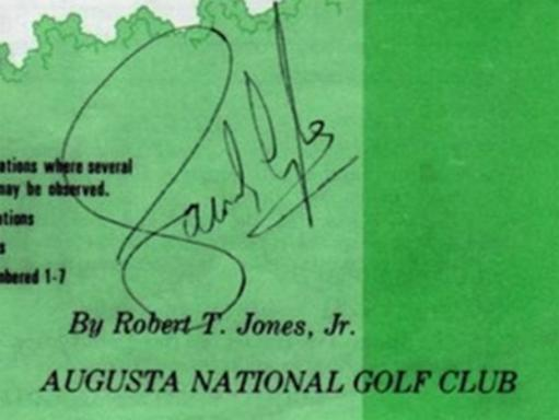 Sandy-Lyle-memorabilia-Sandy-Lyle-autograph-signed-1988-US-Masters-golf-memorabilia-Bobby-Jones-Augusta-National-spectator-guide-Green-Jacket-champion-signature