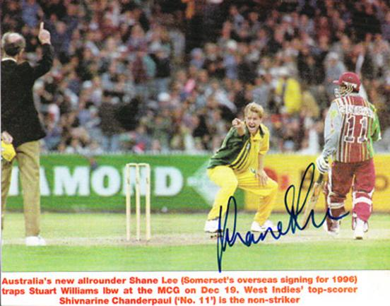 Shane-Lee-autograph-signed-Australia-cricket-memorabilia-Ashes-all-rounder-Somerset