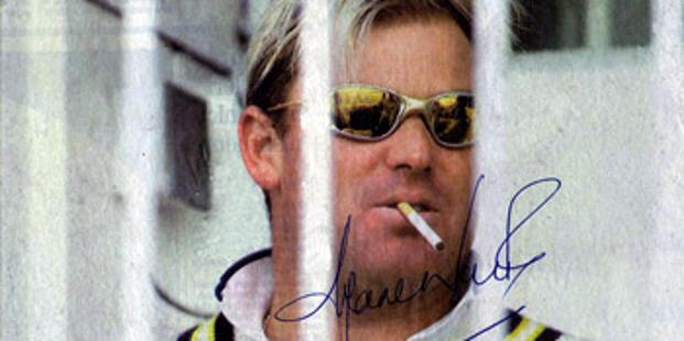 SHANE WARNE Hand-signed Yorkshire Post front page pic