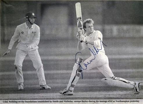 Shaun-Udal-autograph-signed-Hampshire-cricket-memorabilia-shaggy-hants-ccc-england-test-spinner