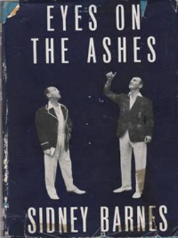 Sidney-Barnes-autralia-cricket-memorabilia-Eye-on-the-Ashes-book-diary-1953-first-edition-aussie