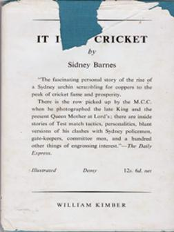 Sidney-Barnes-autralia-cricket-memorabilia-aussie-Eye-on-the-Ashes-book-diary-1953-first-edition