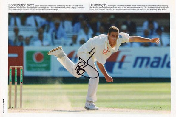 Simon-Jones-autograph-signed-Glamorgan-cricket-memorabilia-England-test-match-fast-bowler-ashes-2005-debut-injury-jeff-dad-hampshire-wcm-poster