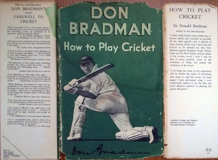 Sir Don Bradman New South Wales Australia How To Play Cricket book 1953