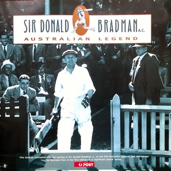 Sir Don Bradman memorabilia Australian Post Legend Commemorative Booklet Cricket memorabilia