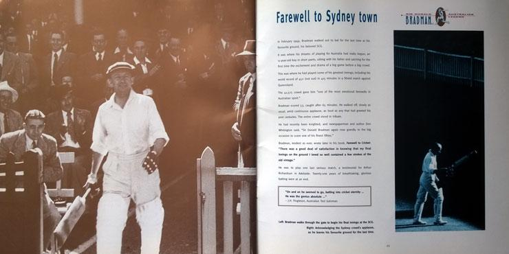 Sir Don Bradman memorabilia Australian Post Legend Commemorative Booklet Cricket memorabilia farewell