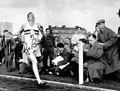 SIR ROGER BANNISTER autograph signed photo first four minute mile oxford