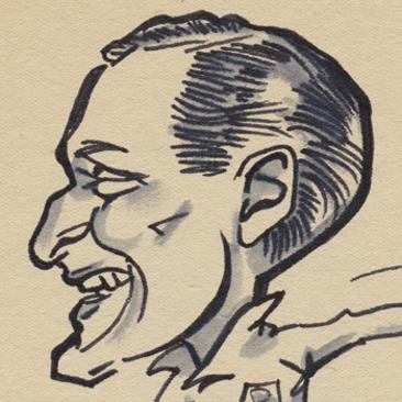 Sir-Tom-Finney-memorabilia-Preston-North-End-football-memorabilia-signed-cartoon-P-Hobbs-caricature-pen-pic-drawing-head-portrait