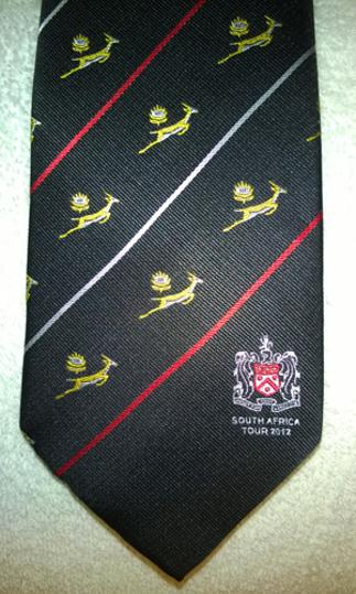 South-Africa-2012-Tour-official-necktie-tie-Springboks-rugby-union-memorabilia