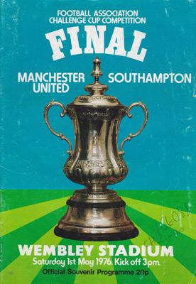Southampton-football-memorabilia-1976-FA-Cup-Final-programme-manchester-united-Man-Utd-Wembley-Stadium