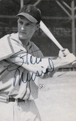 Stan-Musial-autograph-signed-MLB-baseball-memorabilia-St-Louis-Cardinals-Stan-the-man-hall-of-fame postcard