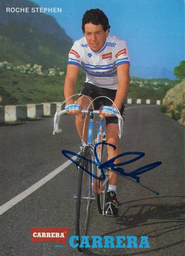 Stephen-Roche-autograph-signed-Tour-de-France-cycling-memorabilia-Giro-Ditalia-Carrera-Ireland-World-champion-cyclist-bike-maillot-jaune