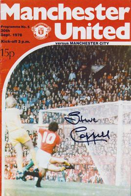 Steve-Coppell-autograph-signed-Manchester-United-football-memorabilia-sept-1978-programme-v-man-city-manchester-city-old-trafford-man-utd-signature
