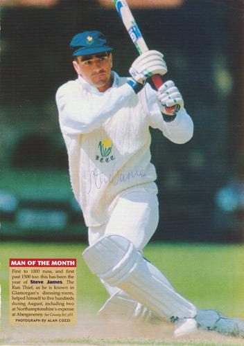 Steve-James-autograph-signed-glamorgan-cricket-memorabilia-run-thief-batsman-england-opener-poster