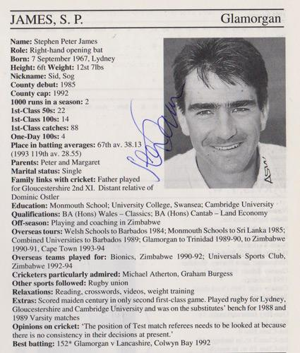 Steve-James-autograph-signed-glamorgan-cricket-memorabilia-whos-who-batsman-england-wales-glam-ccc-signature