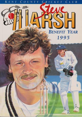 Steve-Marsh-autograph-signed-Kent-cricket-memorabilia-KCCC-spitfires-county-1995-benefit-year-testimonial-brochure-signature-wicket-keeper-captain