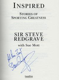 SIR STEVE REDGRAVE (5 x Olympic rowing Gold Medalist) signed copy of