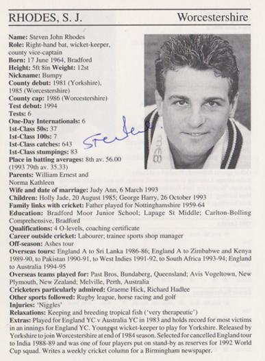 Steven-Rhodes-autograph-signed-worcestershire-cricket-memorabilia-worcs-ccc-england-wicket-keeper-captain-whos-who-signature