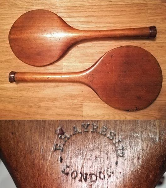 Stoolball-bat-vintage-fh-ayres-london-victorian-wooden-willow-leather-stool-ball-antique